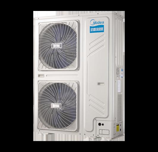 美的商用侧出风全直流变频系统空气能热水机400-潍坊空气源工程安装公司